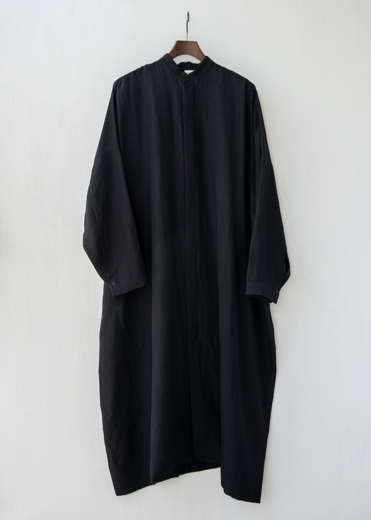 JAN-JAN VAN ESSCHE / SHIRT#78 OVERSIZED LONG SHIRT BLACK FINE MESH