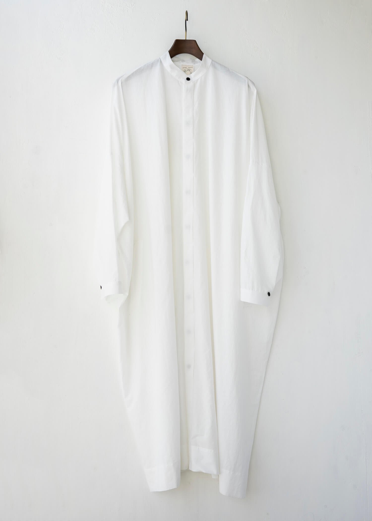JAN-JAN VAN ESSCHE / SHIRT#78 OVERSIZED LONG SHIRT OFF-WHITE CO/LI TYPEWRITTER