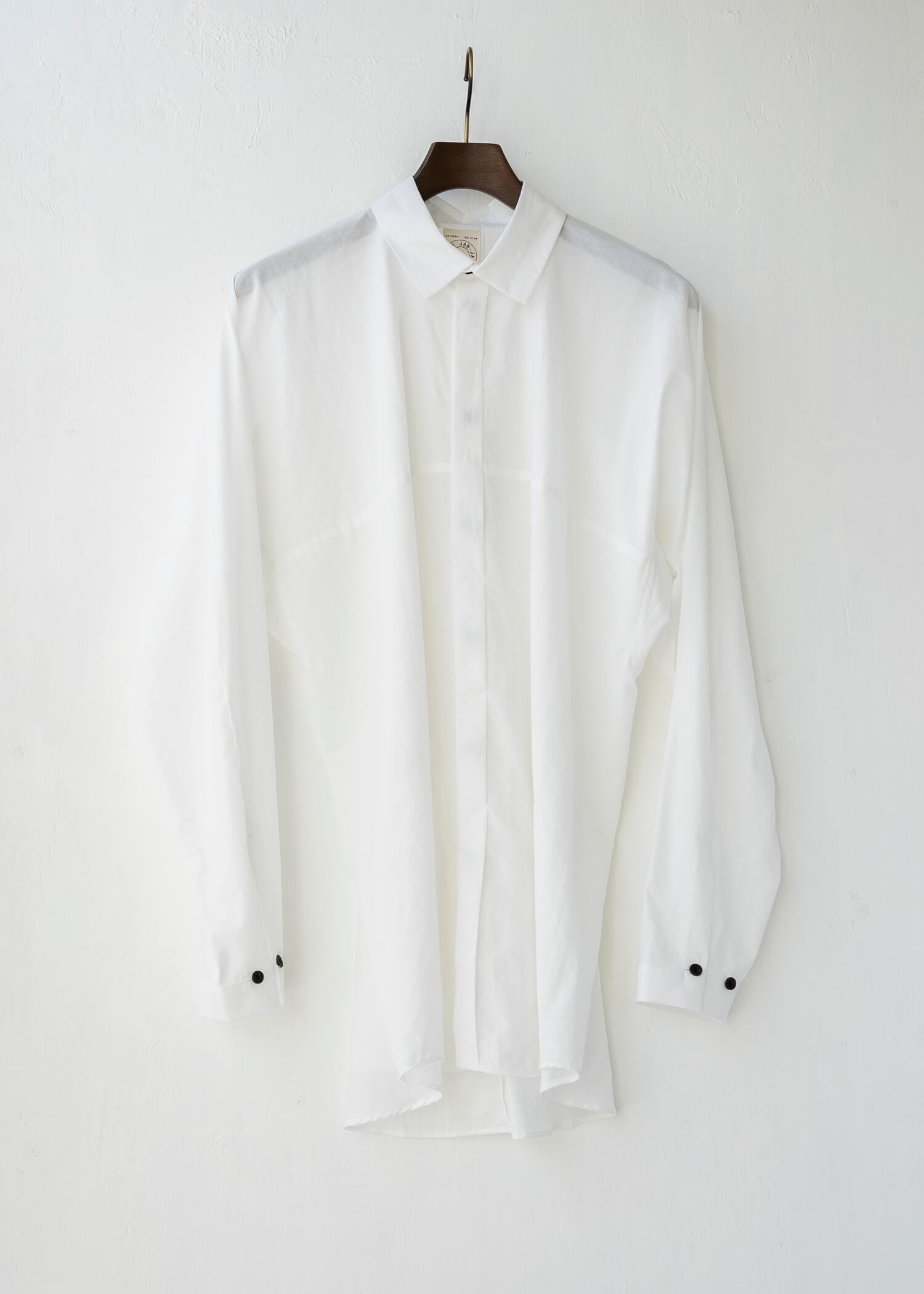 JAN-JAN VAN ESSCHE / SHIRT#77 LOOSE FIT SHIRT OFF-WHITE CO/LI TYPEWRITTER
