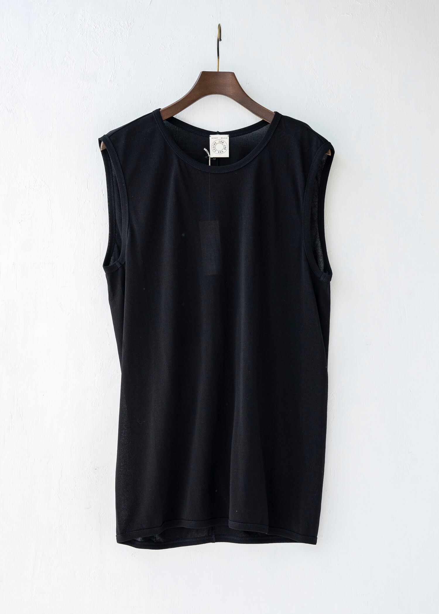 JAN-JAN VAN ESSCHE / TANKTOP#13 REGULAR FIT TANK TOP BLACK WASHI/CO JERSEY