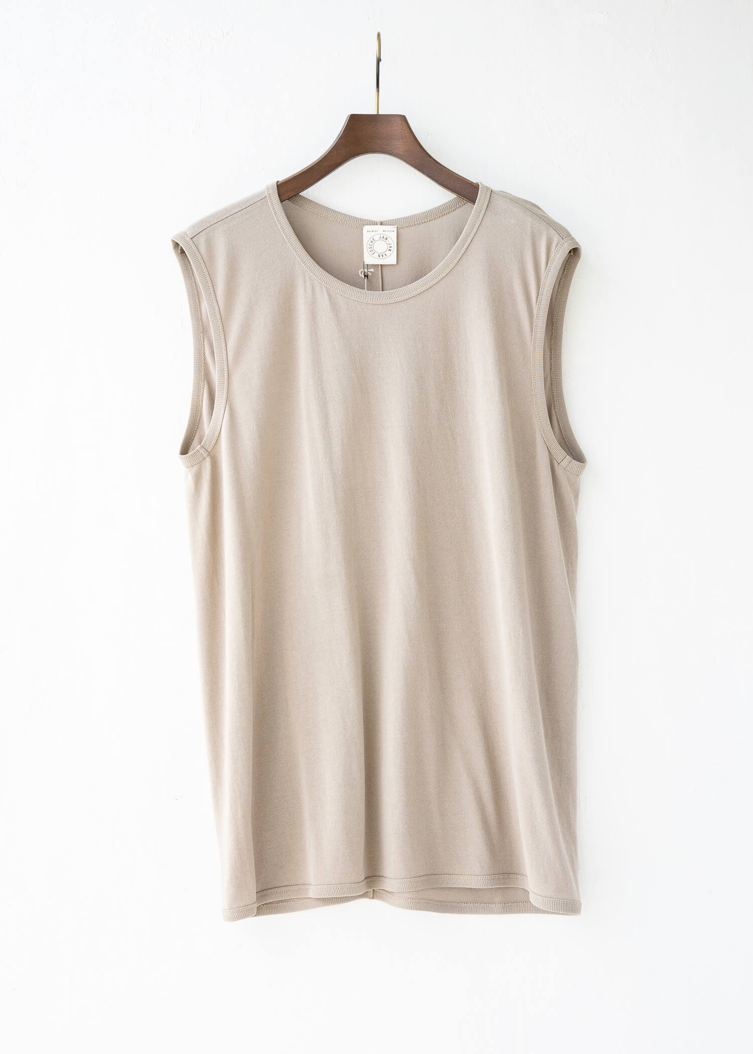 JAN-JAN VAN ESSCHE / TANKTOP#13 REGULAR FIT TANK TOP LIGHT GREY WASHI/CO JERSEY