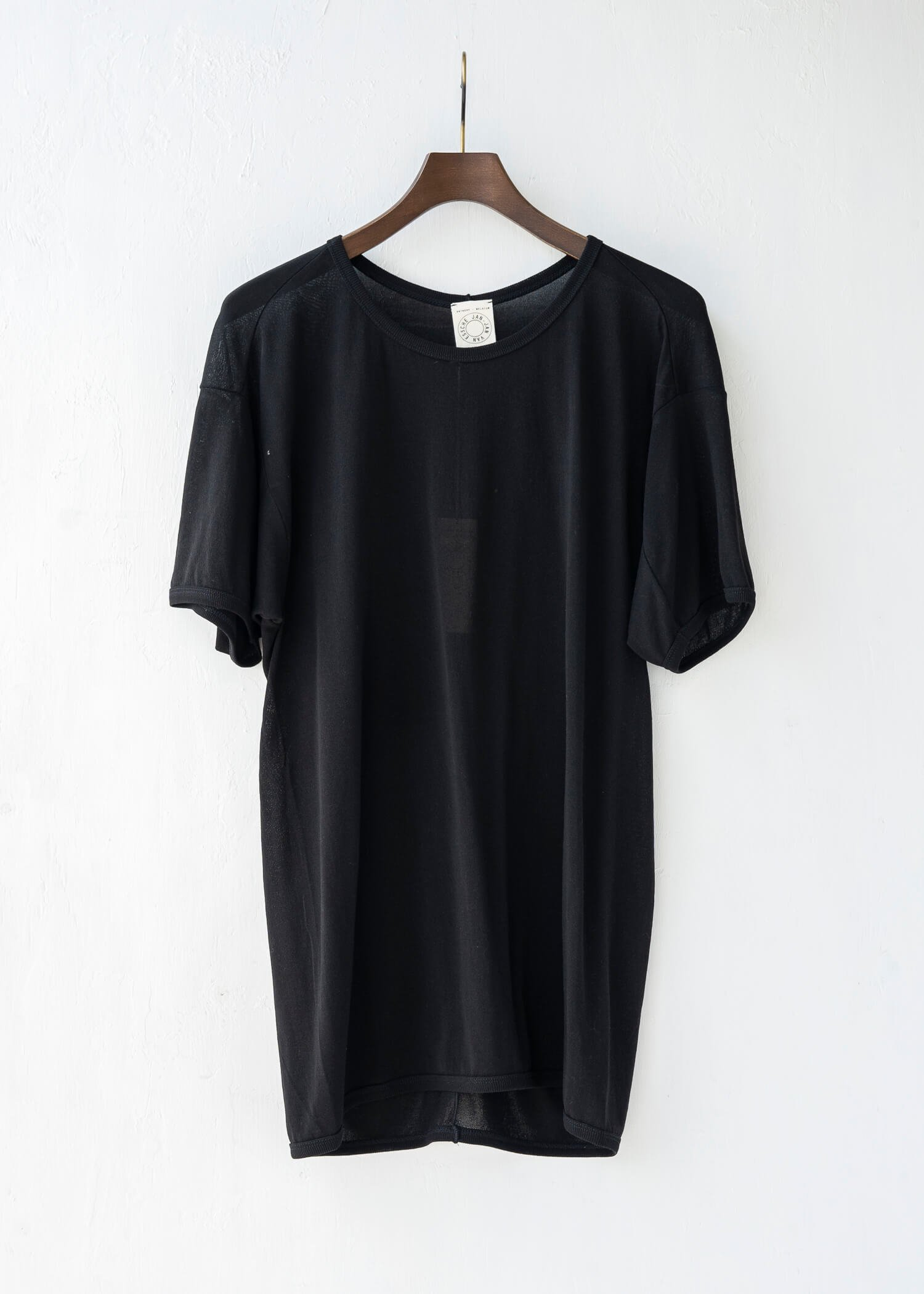 JAN-JAN VAN ESSCHE / TEE#59 REGULAR FIT T-SHIRT BLACK WA/CO JERSEY