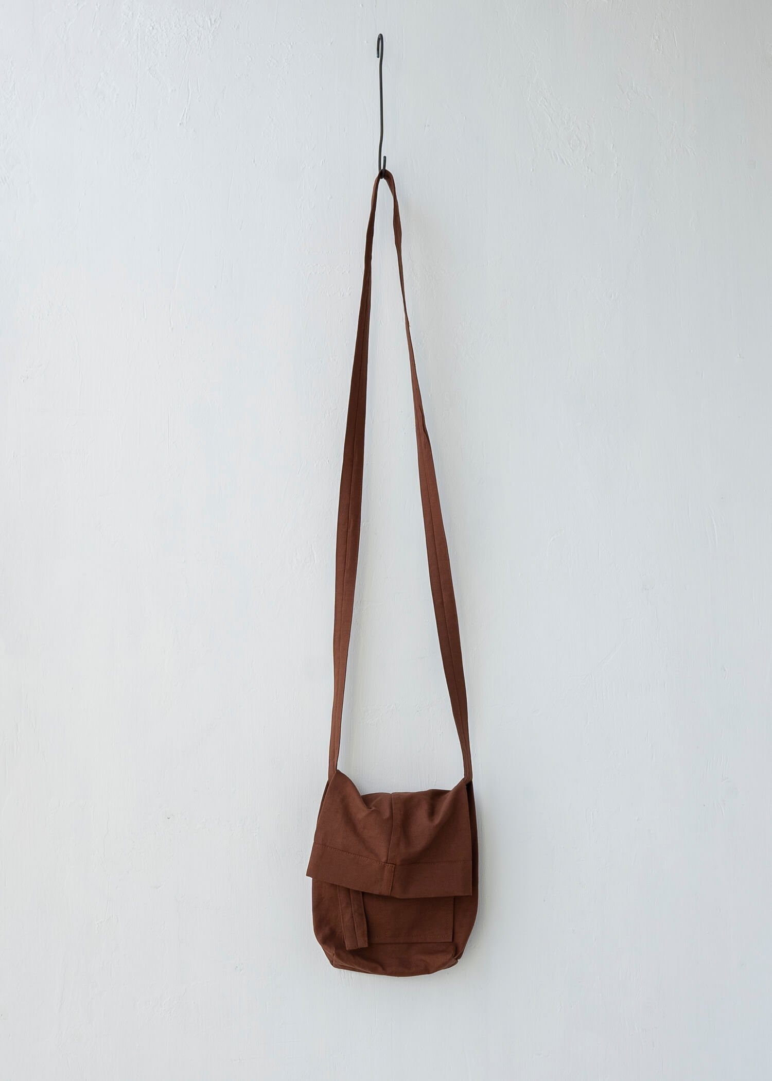 JAN-JAN VAN ESSCHE / BAG#15 SMALL BAG RUST DENSE TWILL