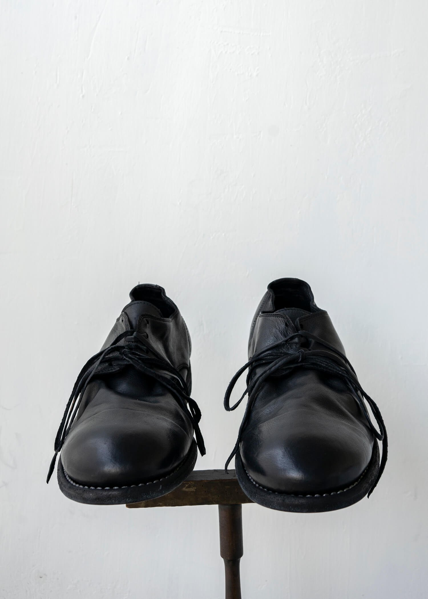 GUIDI / 992X CLASSIC DERBY SOLE LEATHER CARF FULL GRAIN BLKT