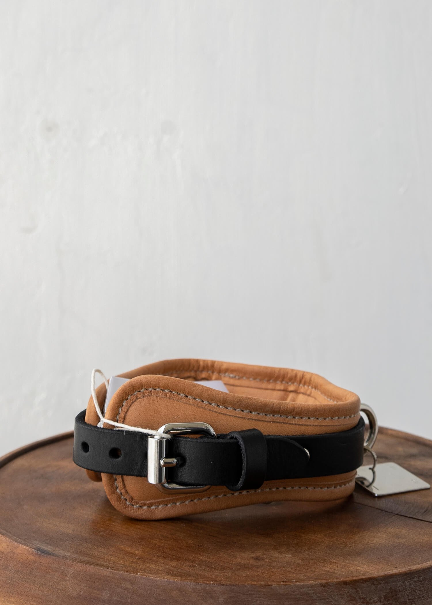 GUIDI / CL01 DOG COLLAR SOFT HORCE FULL GRAIN BLKT