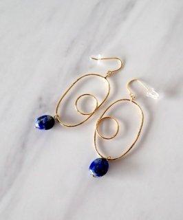 SALON◇Nuance Natural stone Pierce 〜Lapis lazuli〜
