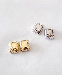 mille blanc◇Textured metal pierce