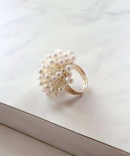 mille blanc◇Bubble pearl ring
