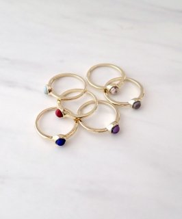 mille blanc◇Color Stone ring