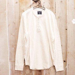 Abercrombie & Fitch(アバクロンビーアンドフィッチ):長袖ヘンリーTシャツ/CREAM
