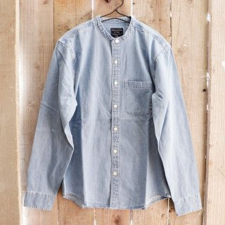 Abercrombie & Fitch(アバクロンビーアンドフィッチ):バンドカラーデニムシャツ