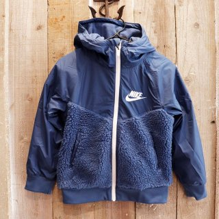 【ボーイズ】Nike(ナイキ):フリースパネルジャケット/BLUE