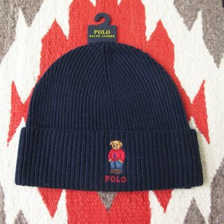 <img class='new_mark_img1' src='https://img.shop-pro.jp/img/new/icons20.gif' style='border:none;display:inline;margin:0px;padding:0px;width:auto;' />【セール】Polo Ralph Lauren(ラルフローレン):ポロベアーニットキャップ/NAVY
