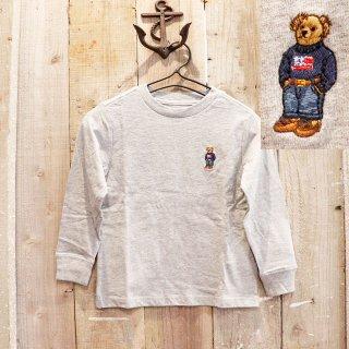 【ボーイズ】Polo Ralph Lauren(ポロラルフローレン):ポロベアー長袖Tシャツ ロンT