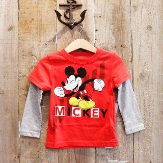 【ボーイズ】Disney(ディズニー):ミッキーマウス レイヤードTシャツ