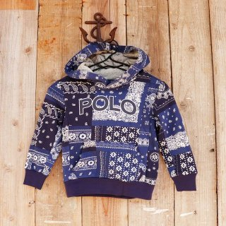 【ボーイズ】Polo Ralph Lauren(ポロラルフローレン):バンダナ柄パーカー