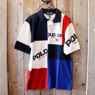【ボーイズ】Polo Ralph Lauren(ラルフローレン):【Polo Sport】パッチワークポロシャツ