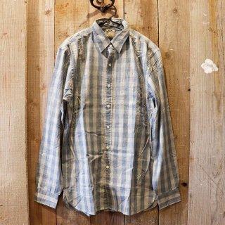 RRL(ダブルアールエルラルフローレン):インディゴチェックシャツ