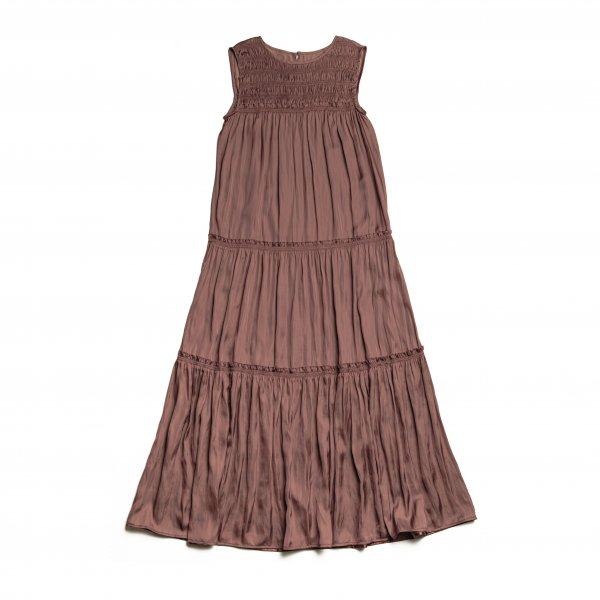 AMYER - Tiered Maxi-Dress(Brown)