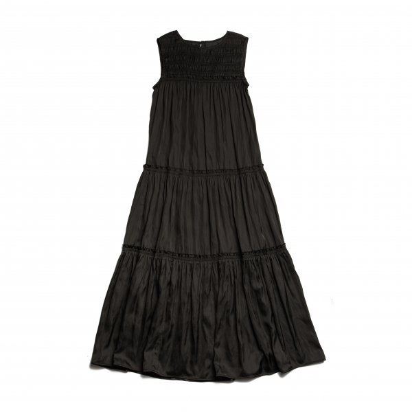 AMYER - Tiered Maxi-Dress(Black)