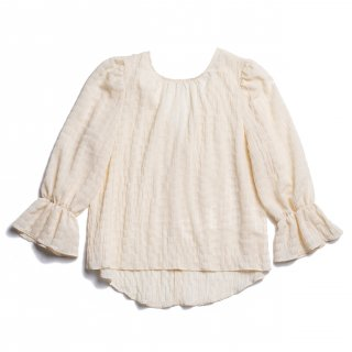 AMYER - Shirring Puff Sleeve Blouse(Ivory)