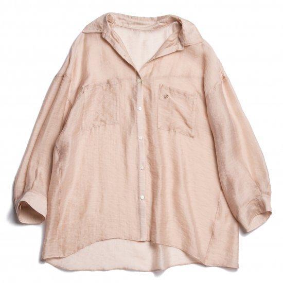 Big Sheer Shirt(Pink Beige)