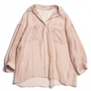 AMYER - Big Sheer Shirt(Pink Beige)