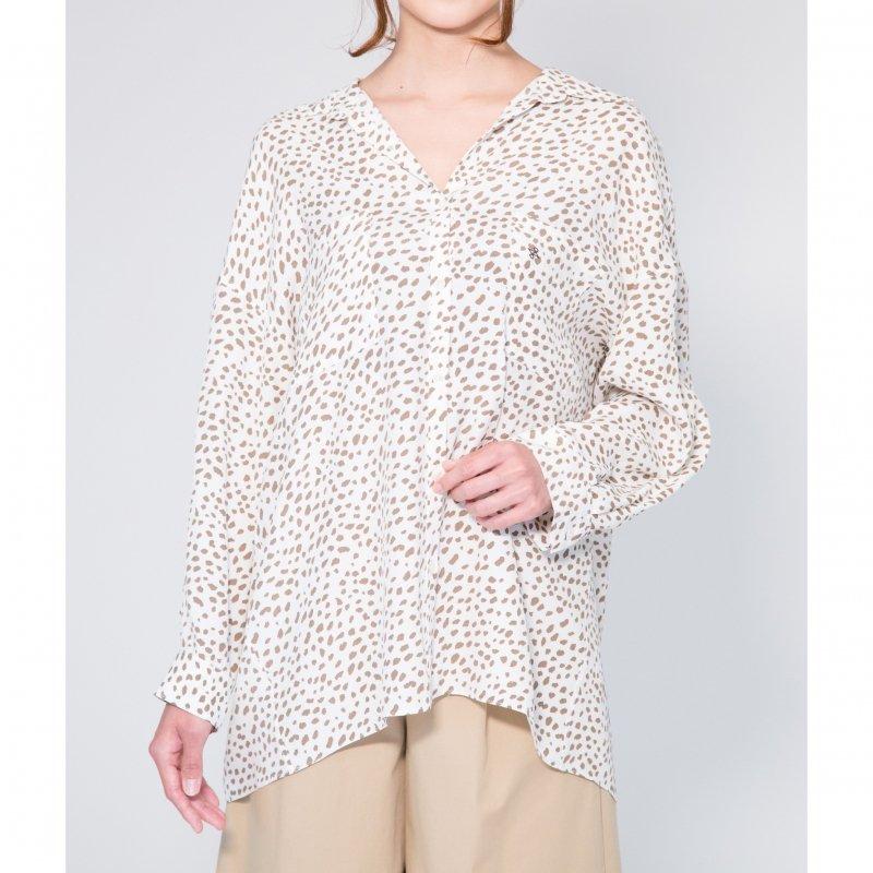 Big Sheer Shirt(Ivory×Beige)