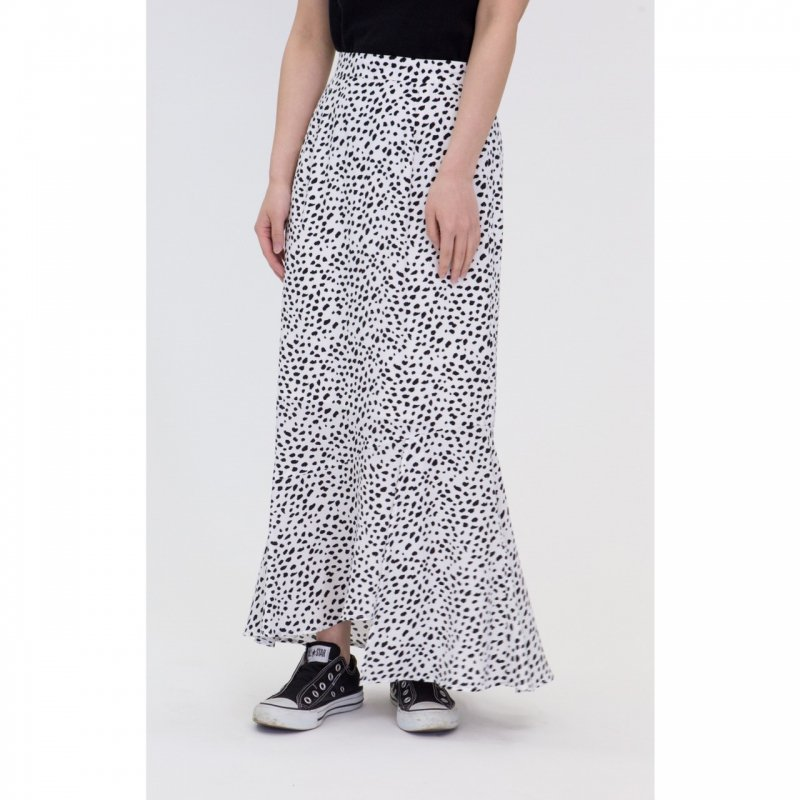Marmaid Skirt(Ivory×Black)