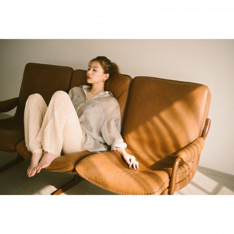 Crochet Knit Pants(Ivory)