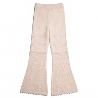 AMYER - Crochet Knit Pants(Ivory)