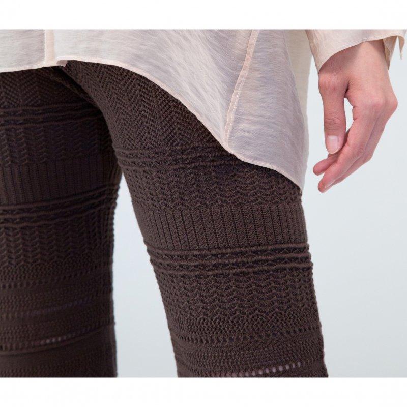 Crochet Knit Pants(Brown)