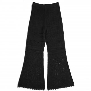 AMYER - Crochet Knit Pants(Black)