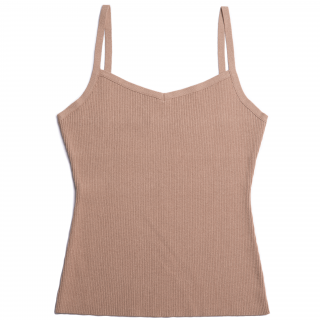 AMYER - Rib Knit Camisole(Beige)