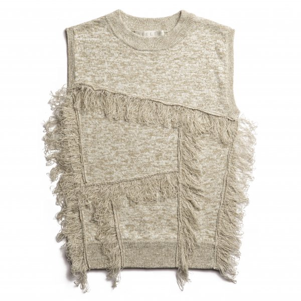 AMYER - Fringe Knit Pullover(Beige)<img class='new_mark_img2' src='https://img.shop-pro.jp/img/new/icons20.gif' style='border:none;display:inline;margin:0px;padding:0px;width:auto;' />