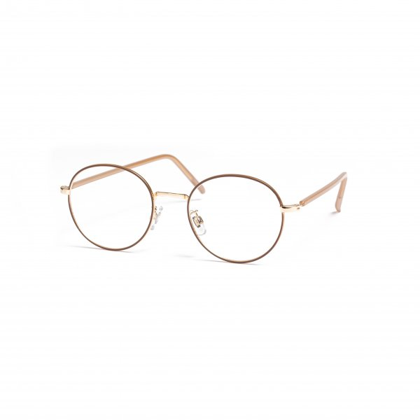 AMYER - Gold Frame Clear Sunglasses