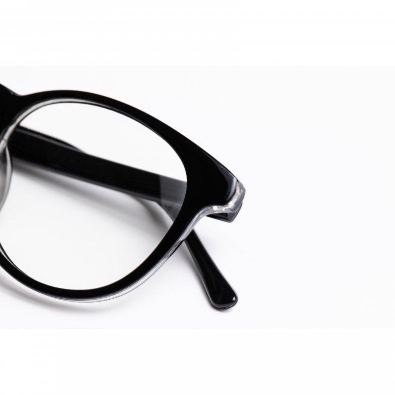Black Frame Clear Sunglasses