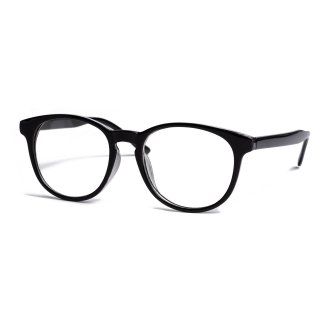 AMYER - Black Frame Clear Sunglasses