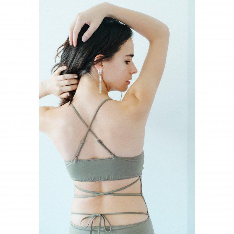Lace Docking Swimwear(Khaki)