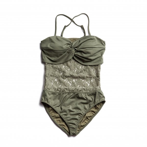 AMYER - Lace Docking Swimwear(Khaki)