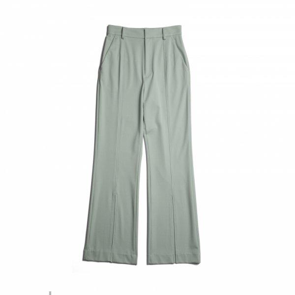 AMYER - Front Slit Color Pants(Mint)