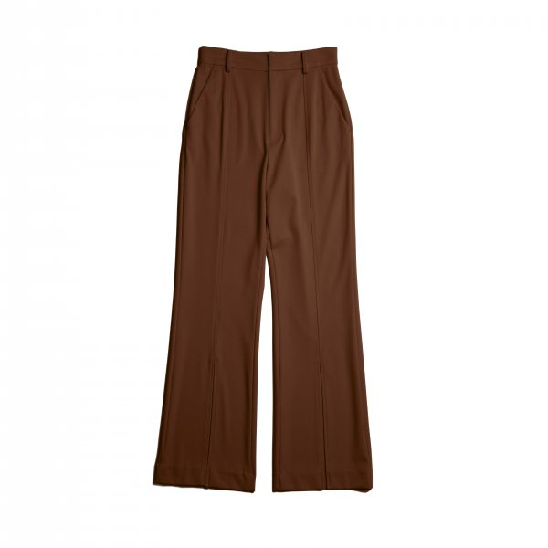AMYER - Front Slit Color Pants(Brown)