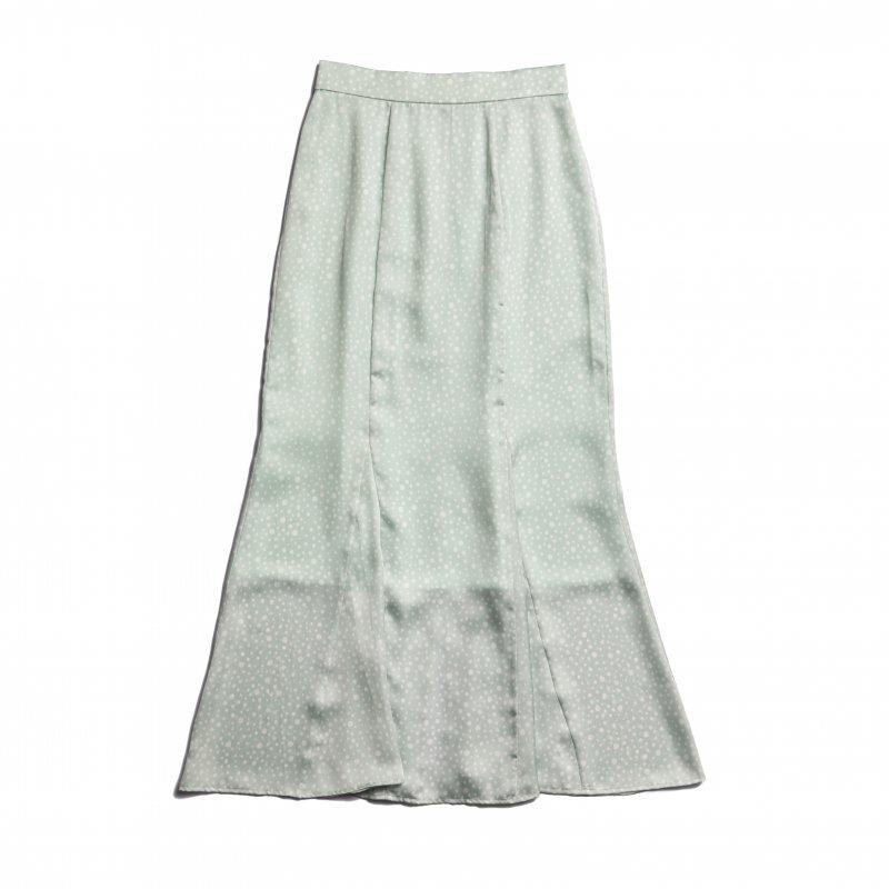 Dot Print Mermaid Skirt(Mint)