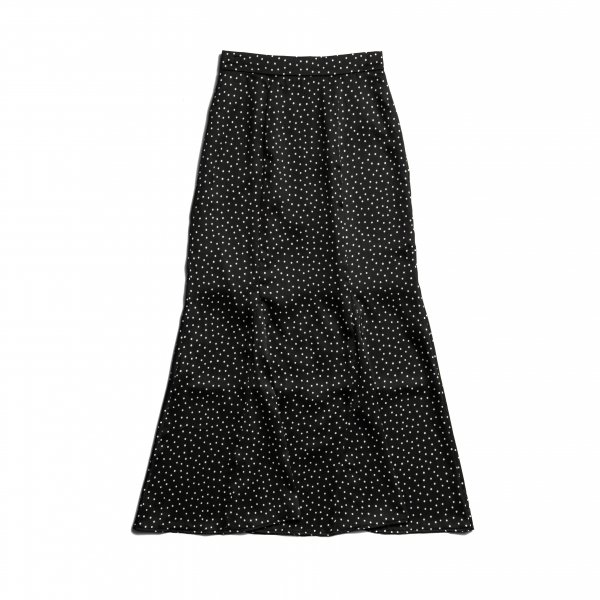 AMYER - Dot Print Mermaid Skirt(Black)