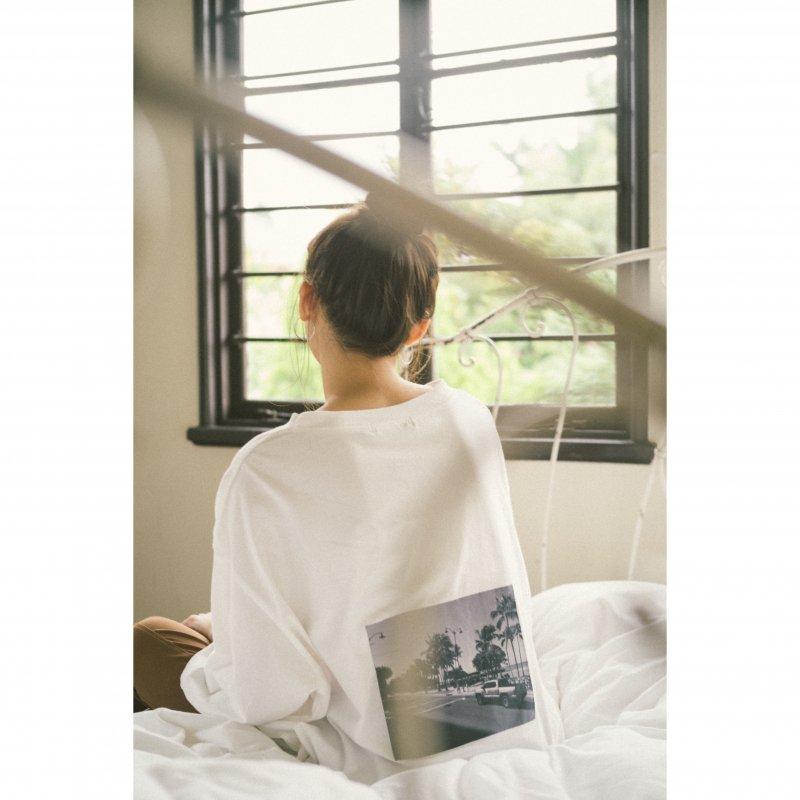 Back Photo Print TEE(White)
