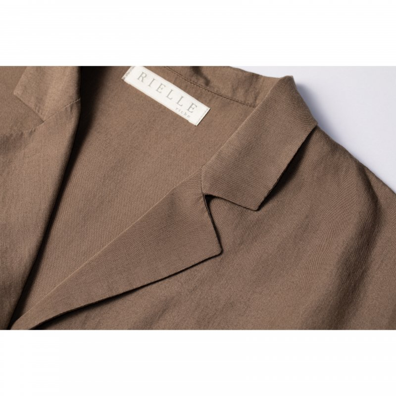 Open-Collar Shirts(Brown)