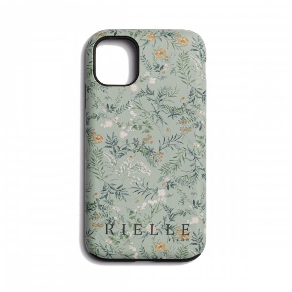 AMYER - Flower Print iPhone Case(Mint)