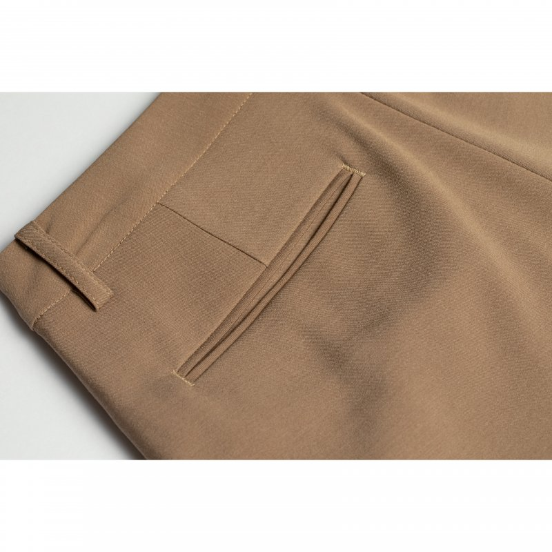 Tuck Tapered Pants(Beige)