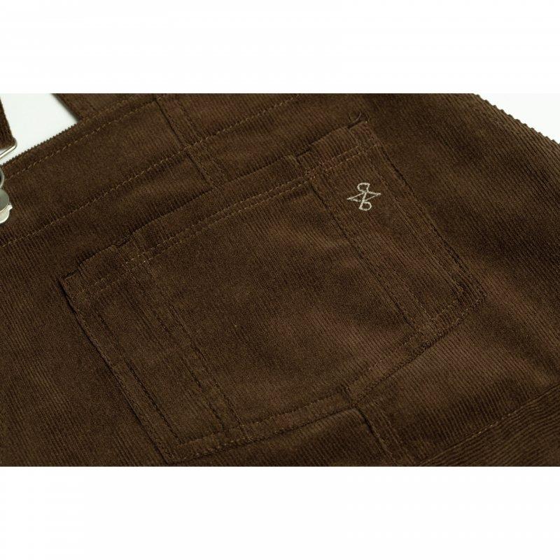 Corduroy Jumper Skirt(Brown)