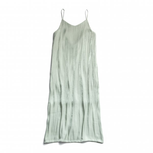 AMYER - Shiny Satin Camisole One-piece(Mint)